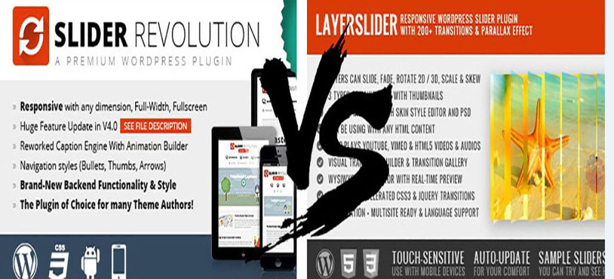 Slider Revolution vs Layer Slider – Best WordPress Slider?