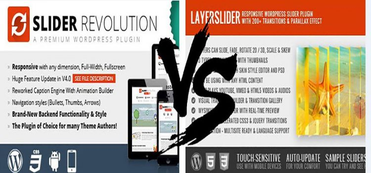 Slider Revolution vs Layer Slider