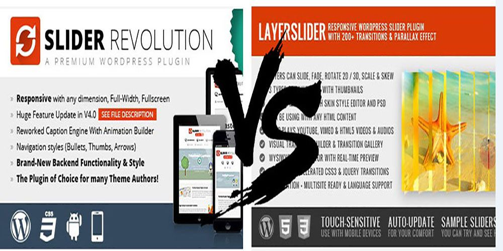 Slider Revolution vs Layer Slider - Best WordPress Slider