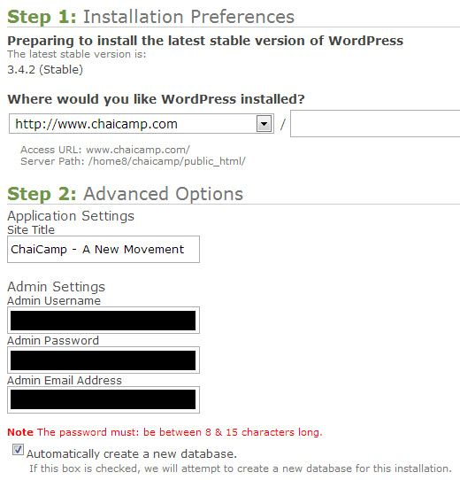 simplescripts-wordpress-installation