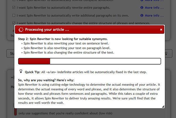 WordPress spinning tool