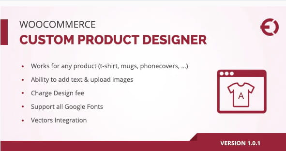 Woocommerce Custom Product Designer for T-Shirt, Cup, Caps, Cards.