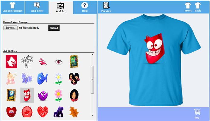 WordPress shirt design plugin.