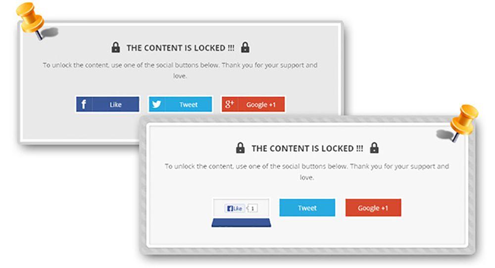 wordpress social locker plugin