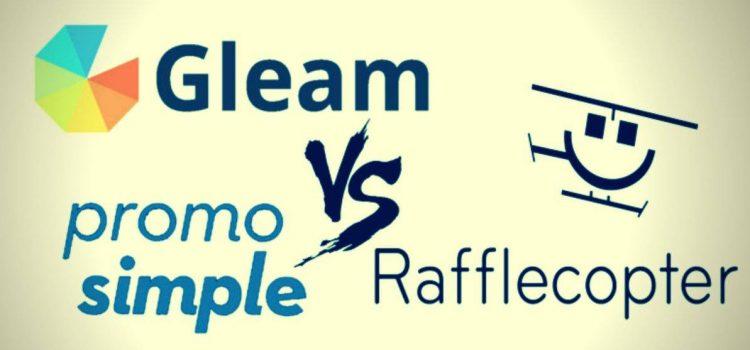Gleam vs Rafflecopter vs PromoSimple WordPress Giveaways