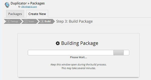 duplicator-plugin-building-website-package