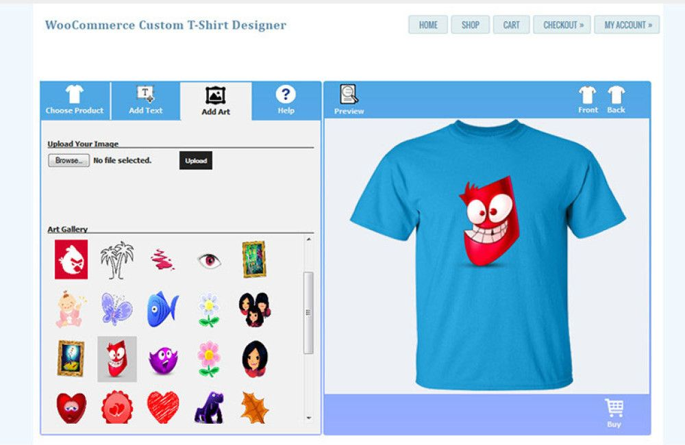 WordPress t shirt plugin