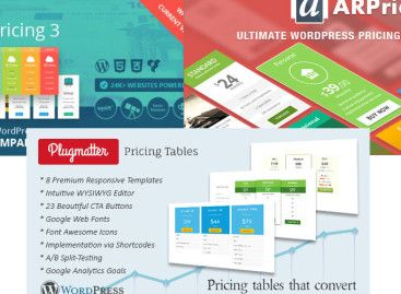 Go Pricing vs ARPrice vs Plugmatter Pricing – Best WordPress Responsive Table Plugin?