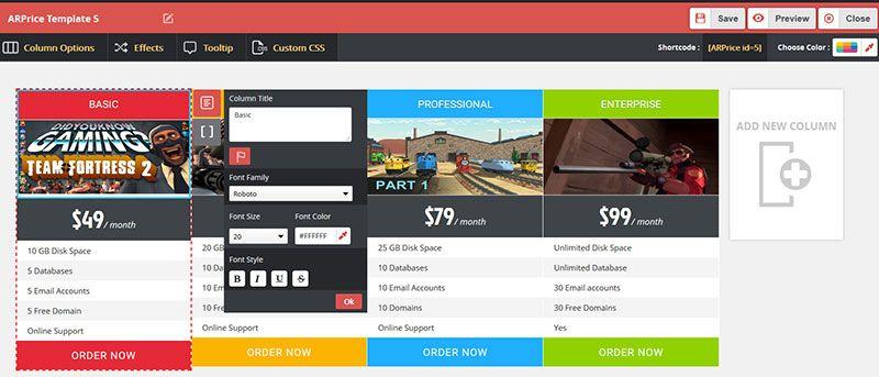 create-tables-in-wordpress-easy