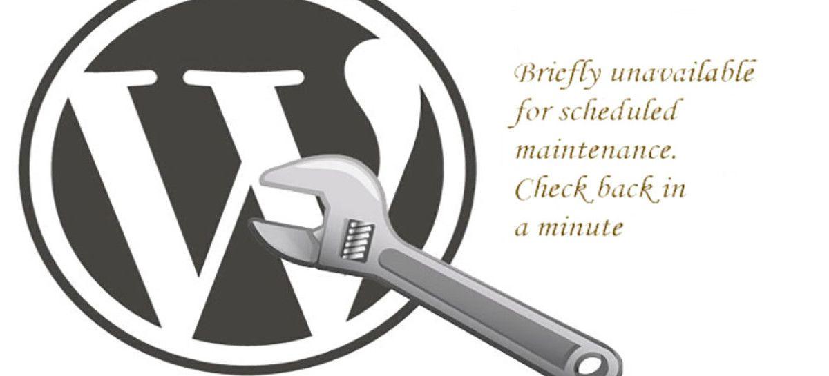 Fix Briefly Unavailable For Scheduled Maintenance WordPress Error