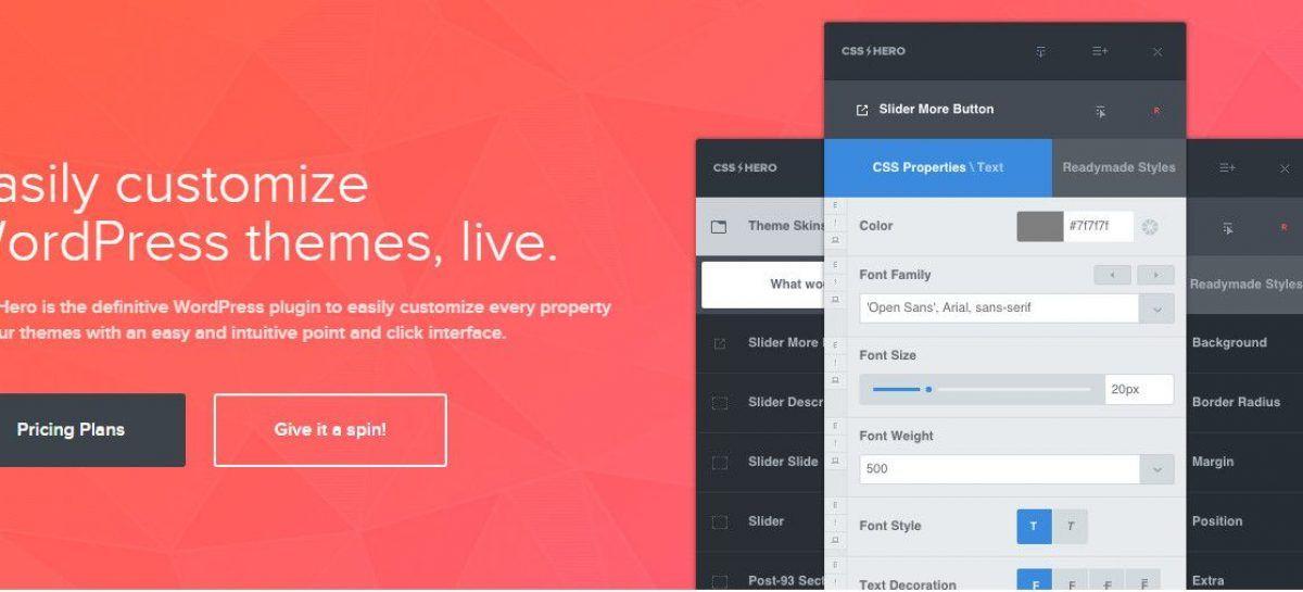 CSS Hero Giveaway 1-Year Starter Plan