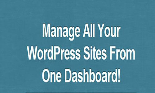 manage wordpress sites from one dashboard
