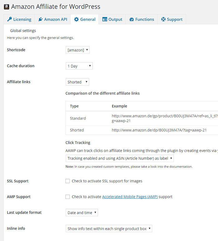 amazon affiliate wordpress plugin