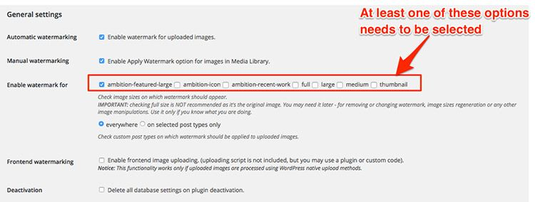 how to add watermark to images in WordPress