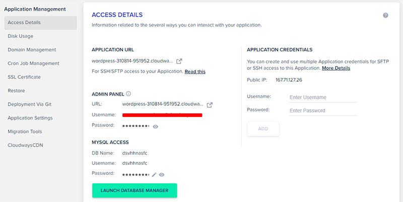Application Management Settings