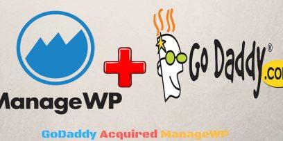 GoDaddy Acquired ManageWP