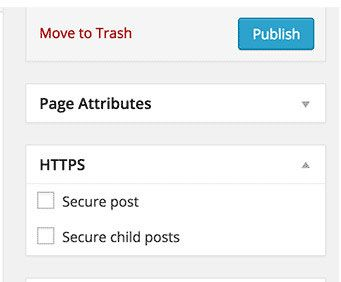 use HTTPS just for specific pages