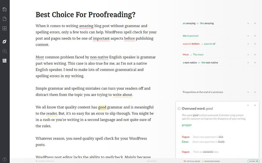 spell checker for wordpress