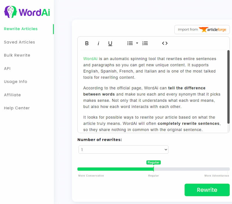 How WordAi works?