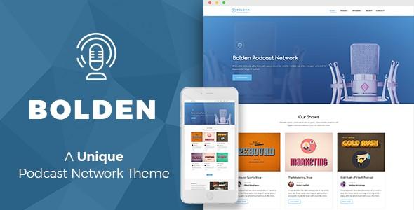 bolden wordpress podcast network theme