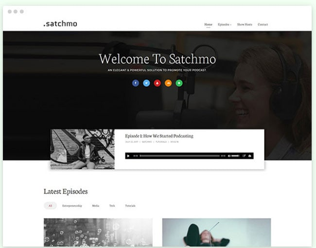 satchmo podcasting theme review