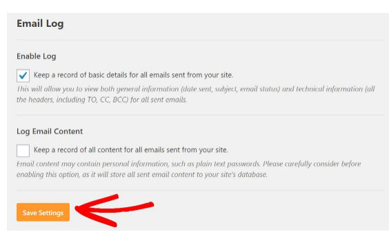 Keep Record of All Emails Sent From Site wordpress