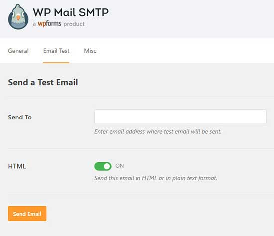test sending emails in wordpress