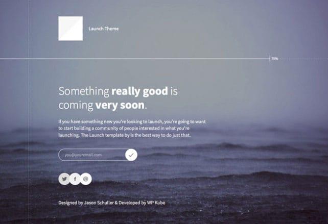 coming soon wordpress theme free