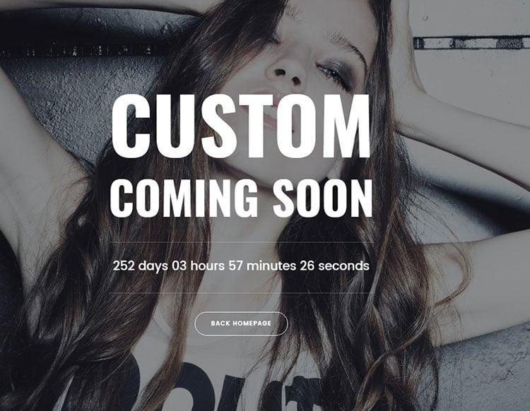 custom coming soon page WordPress theme
