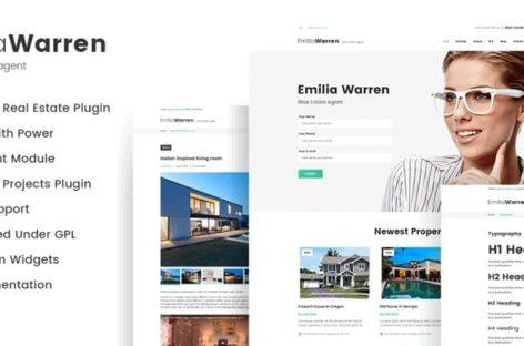 Emilia Warren Real Estate WordPress Theme | Showcase Property and Sell for Profit