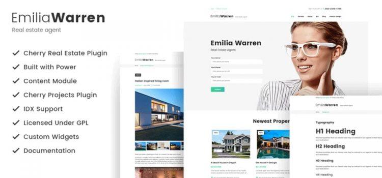 Emilia Warren Real Estate WordPress Theme review