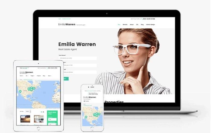 Emilia Warren Real Estate responsive theme