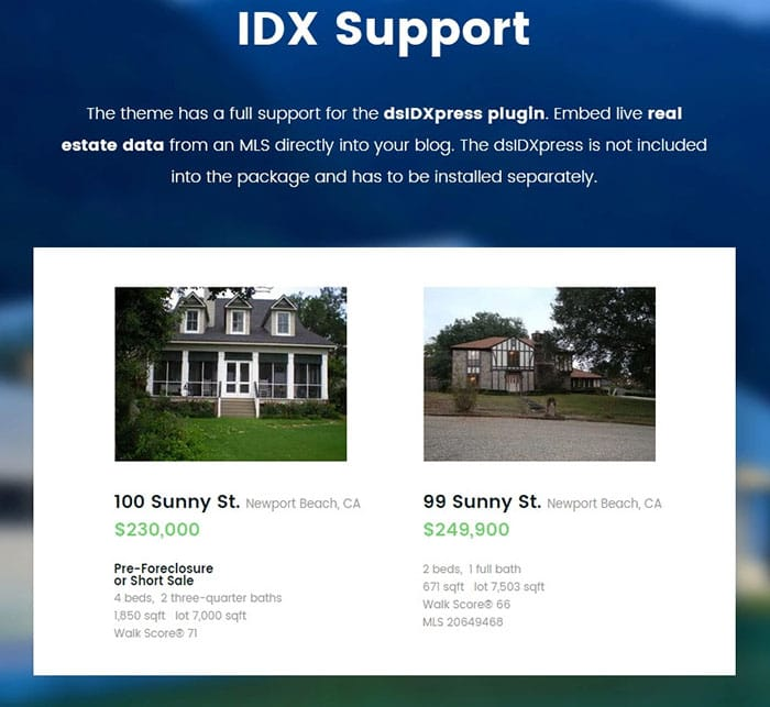 Emilia Warren Real Estate support dsIDXpress plugin