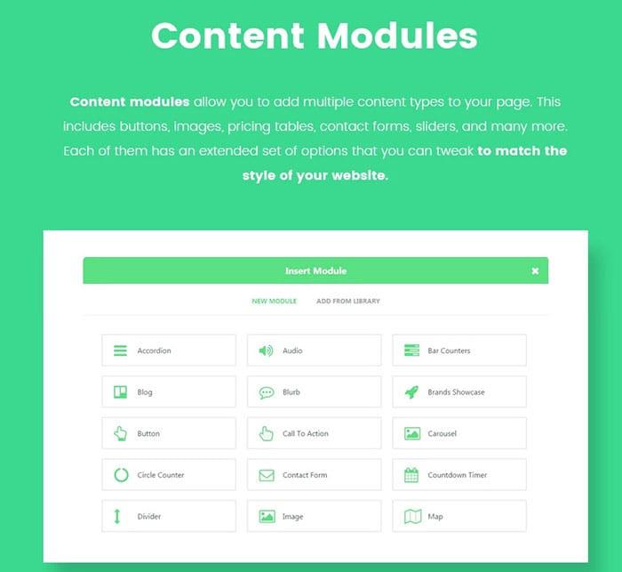 emilia warren real eastate theme Content modules