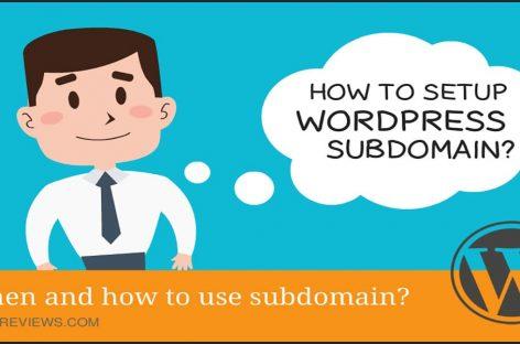 How To Setup WordPress Subdomain Using cPanel?