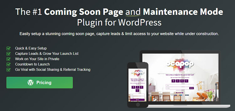 Coming Soon Page & Maintenance Mode Plugin for WordPress review