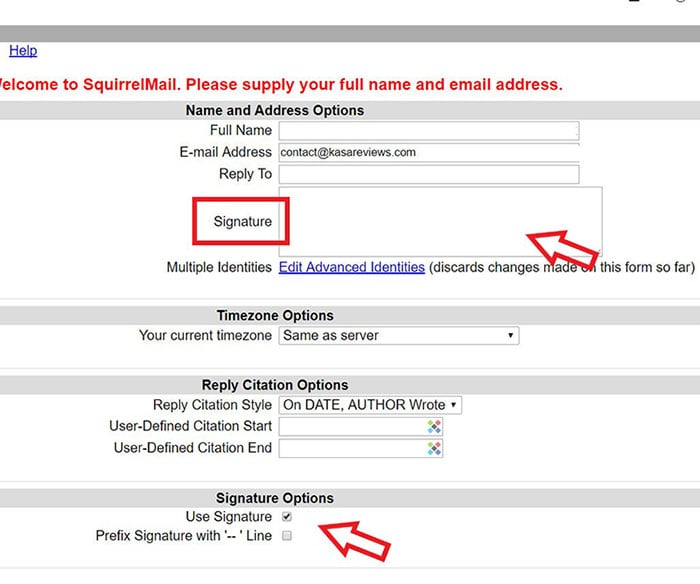 How to Add Email Signature inSquirrelMail
