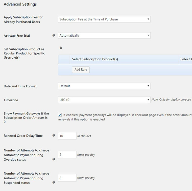 woocommerce recurring payments plugin