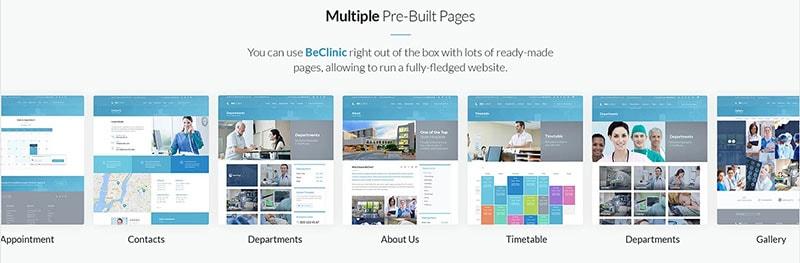 beclinic pre built templates