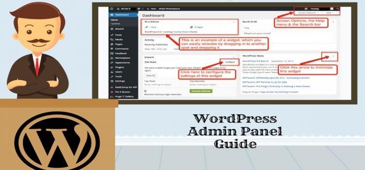wordpress admin panel guide