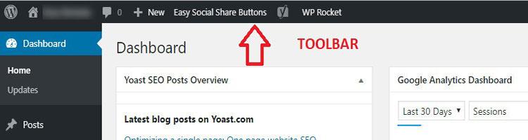 wordpress toolbar guide