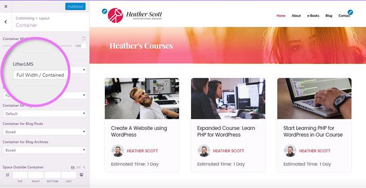 learning management system wordpress theme