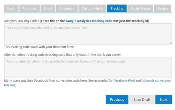tracking donations wordpress plugin