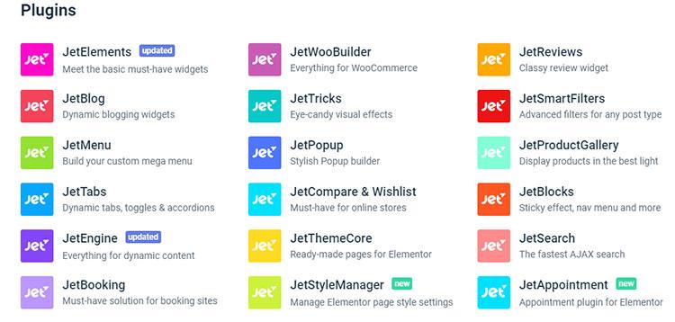 JetPlugins features