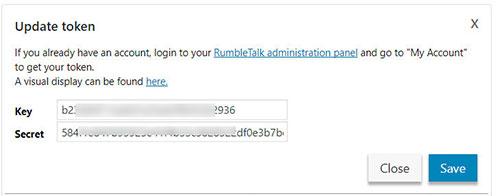 rumbletalk api keys