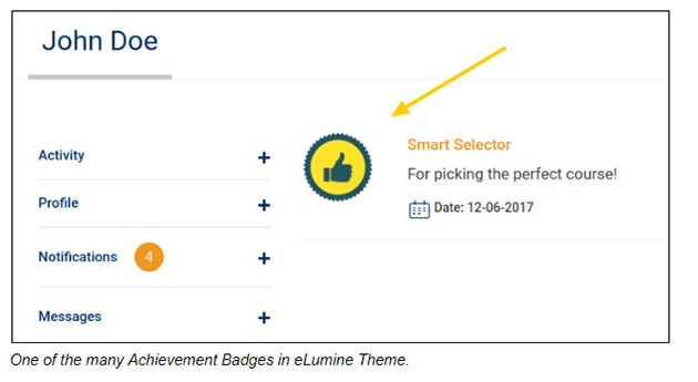 Achievement Badges in eLumine Theme