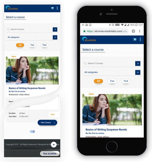 mobile responsive layouts