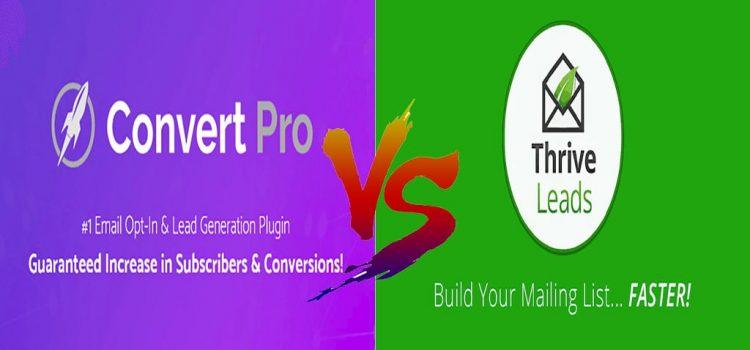 Thrive Leads vs Convert Pro Comparison