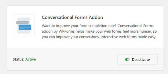 conversational forms addon review wp forms