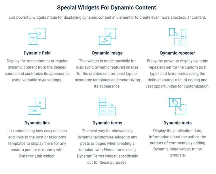 elementor dynamic widgets